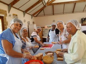 Prepping meals for a Hospital programme